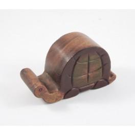 Porte Téléphone Tortue en bois de suar
