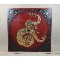 Tableau Kâao Noir/Rouge et Or - 60x60 - TB037