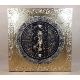 Tableau Bouddha Noir et Or - 60x60 - TB039